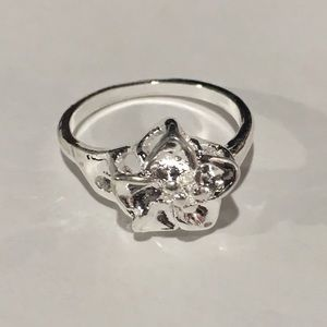 Jewelry - Silver Ring, Cute Flower Simple Ring